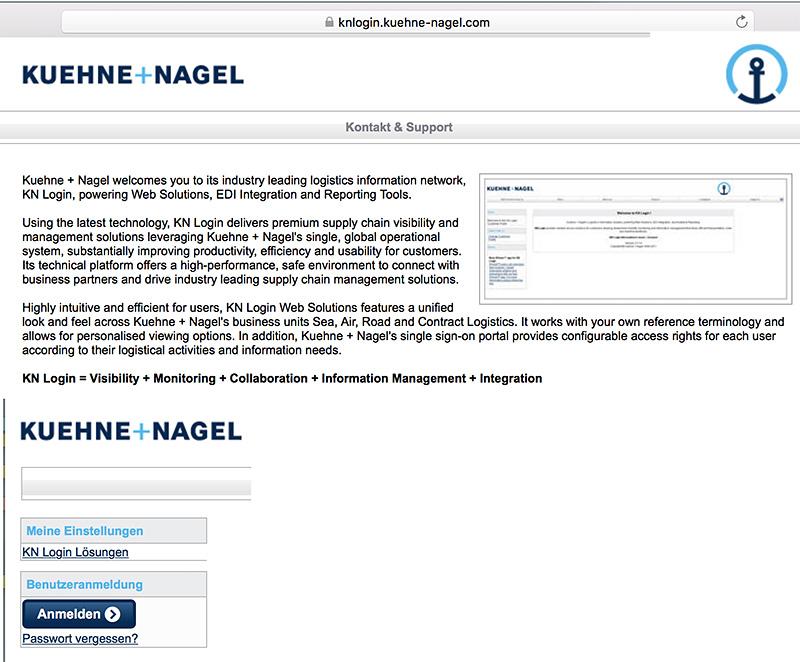 Softzoll-EDI/Kuehne+Nagel-EDI-Portal