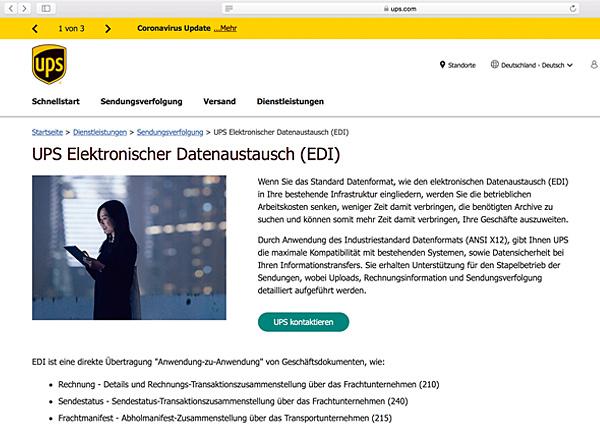 Softzoll-EDI/UPS-EDI-Portal