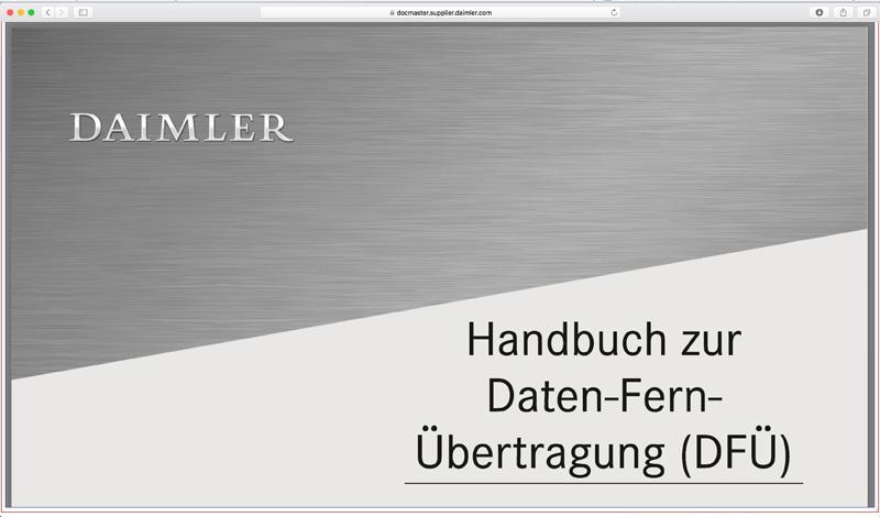 Softzoll-EDI/Daimler-EDI-Handbuch