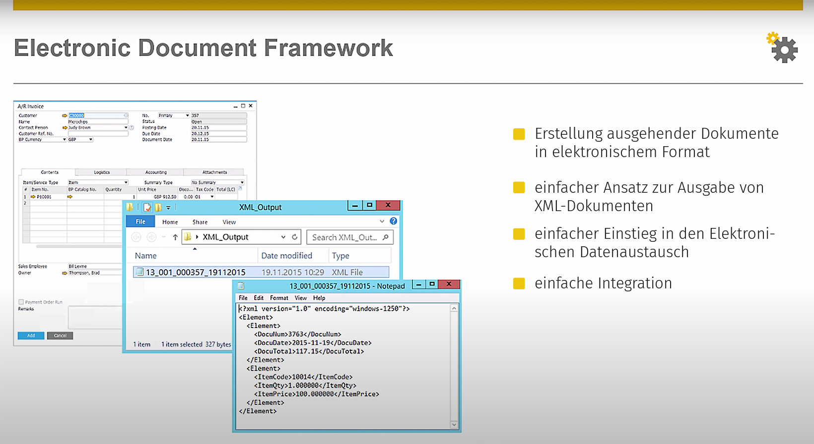 ElectronicDocumentFramework-SAP